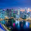 Panorama of Singapore skyline downtown — Stock Photo #53442109
