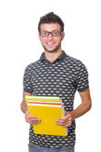 Young student isolated on the white background — Stockfoto