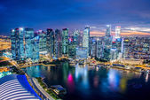 Panorama of Singapore skyline downtown — Stock fotografie