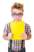 Young student isolated on the white background — Stock Photo