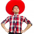 Funny mexican with sombrero in concept — Stock Photo #53839029