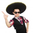 Funny mexican with sombrero in concept — Stock Photo #53839601
