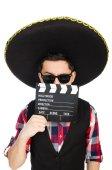 Engraçado mexicano com sombrero no conceito — Fotografia Stock