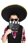 Gracioso mexicano con sombrero en concepto — Foto de Stock