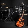 Set of musical instruments during concert — Stock Photo #53843911