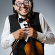 Funny fiddle violin player in musical concept — Stock Photo #53858227