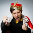 Concept of king businessman with crown — Stock Photo #54417123