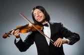 Man violin player in musican concept — Foto de Stock