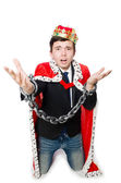 Concept of king businessman with crown — Photo