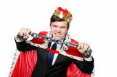Concept of king businessman with crown — Stock fotografie
