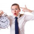 Woman with clock killing the time — Stock Photo #54433875
