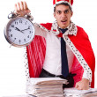 King businessman with lots of paperwork — Stock Photo #54434097