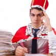 King businessman with lots of paperwork — Stock Photo #54434101