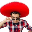 Funny mexican with sombrero in concept — Stock Photo #54435715