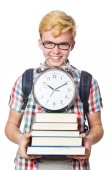 Young student isolated on white — Stock Photo