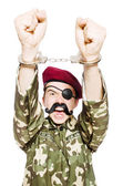 Funny soldier in military concept — Stock fotografie