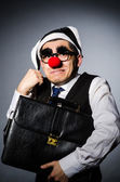 Clown businessman in funny concept — Stok fotoğraf