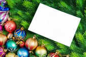 Festive concept with paper with copyspace — Stock Photo
