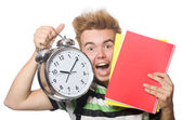 Student with textbook — Stock Photo