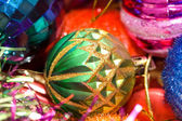 Christmas decorations in festive holiday concept — Fotografia Stock