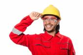 Industrial worker isolated on the white background — Photo