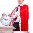 King businessman with lots of paperwork — Stock Photo #55860799