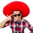 Funny mexican with sombrero in concept — Stock Photo #55862969