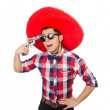 Funny mexican with sombrero hat — Stock Photo #55863079