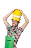 Industrial worker isolated on the white background — Stock Photo