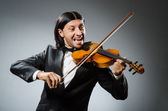 Man violin player in musican concept — Stock Photo