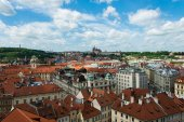View of Prague on bright summer day — Foto Stock