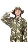 Legrační voják vojenský koncept — Stock fotografie