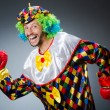 Funny clown with boxing gloves — Stock Photo #57244229