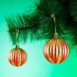 Christmas decoration on the fir tree — Stock Photo #57251299