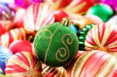 Christmas decorations in festive holiday concept — Foto de Stock