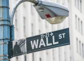Sign on the Wall Street — Stock Photo