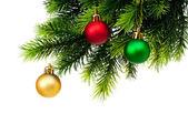 рождественские украшения, изолированные на белом — Стоковое фото