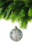 Christmas decoration isolated on the white — Stock Photo
