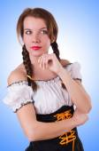 German girl in traditional festival clothing — Stock Photo