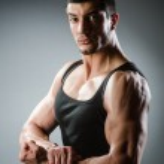 Muscular man posing — Stock Photo #57367933