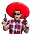 Funny mexican with sombrero in concept — Stock Photo #57370623