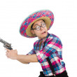 Funny mexican with sombrero — Stock Photo #57372011