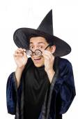 Funny wise wizard isolated on the white — Foto Stock