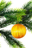 Juldekoration isolerat på vita — Stockfoto