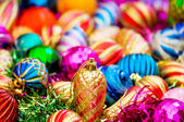 Christmas decorations in festive holiday concept — Foto Stock