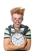Angry student missing his deadlines — Stock Photo