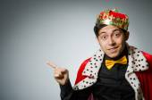 Funny man wearing crown — Stock Photo