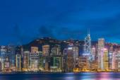 View of Hong Kong during sunset hours — Stock Photo