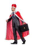 King businessman isolated on white — Stock Photo