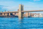 Part of famous Brooklyn bridge — Stock Photo